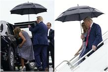Donald Trump Sharing Umbrella With Wife Melania Leaves Netizens Impressed