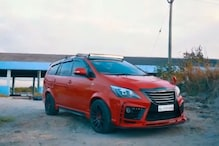 This Red Coloured Customised Toyota Innova Crysta With Lexus Body Kit Looks Menacing
