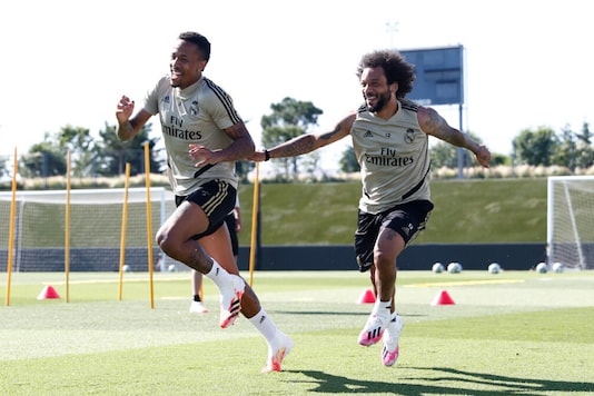 Marcelo, on the right (Photo Credit: @realmadriden)