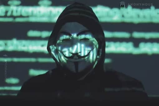 The iconic video style of Anonymous returned after years of inactivity. (Image: Anonymous/Facebook)