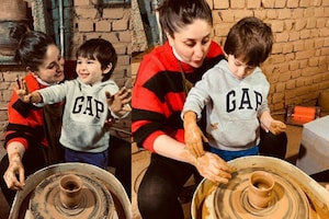 Taimur Ali Khan Tries His Hands at Pottery in Dharamkot With Mom Kareena Kapoor