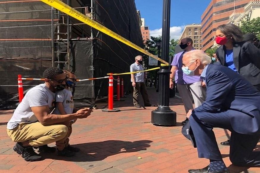 Democrat Joe Biden Visits Site of Police Brutality Protest in Delaware