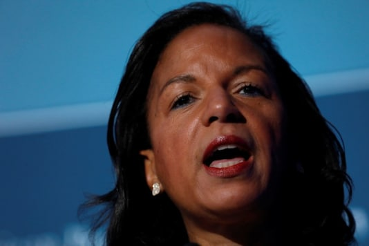 Former National Security Advisor Susan Rice speaks at the Center for American Progress Ideas Conference at the Four Seasons Hotel in Washington, D.C., U.S. May 16, 2017. REUTERS/Aaron P. Bernstein/Files