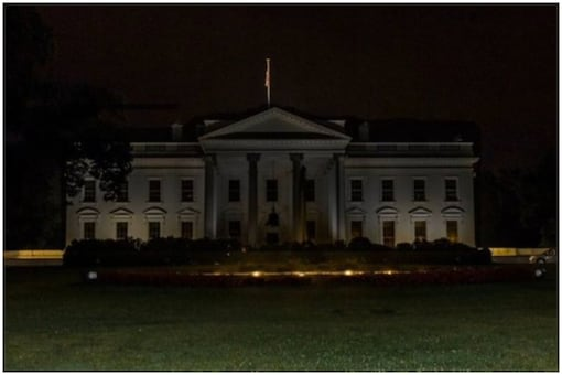 An image of the White House was tweeted by a Twitter user   Image credit: Twitter