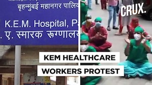 KEM Nurses in Mumbai Protest, Demand Beds For COVID-19 Infected Staff