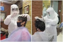 Salon Workers Wear PPE Suits While Giving Hair Cuts in Madhya Pradesh as State Eases Lockdown