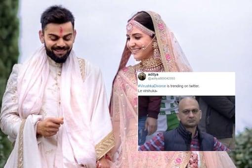 Photo: File photo of Virat and Anushka, Screengrab from Twitter