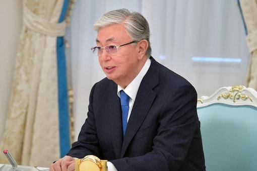 File photo: Kazakh President Kassym-Jomart Tokayev speaks during a meeting in Nur-Sultan. (Reuters)