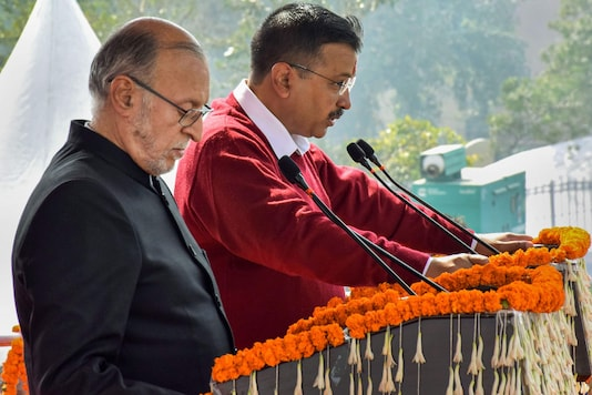 File photo of L-Governor Anil Baijal and Delhi Chief Minister Arvind Kejriwal. (PTI)