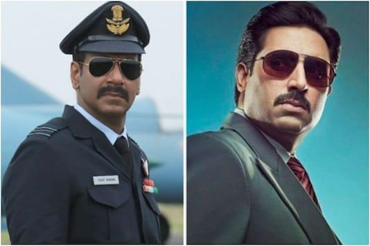 Ajay Devgn (L), Abhishek Bachchan (R)