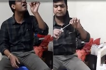 WATCH: Video of Lucknow Doctor Performing Covid-19 Swab Test on Self Goes Viral