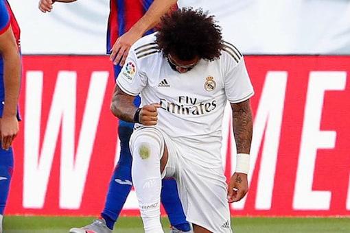 La Liga: Marcelo Takes Knee as Real Madrid Return with Comprehensive Win over Eibar