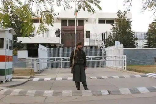 The Indian High Commission building in Islamabad.
