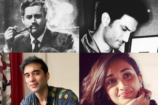 Clockwise: Guru Dutt, Sushant Singh Rajput, Jiah Khan and Kushal Punjabi all died by suicide