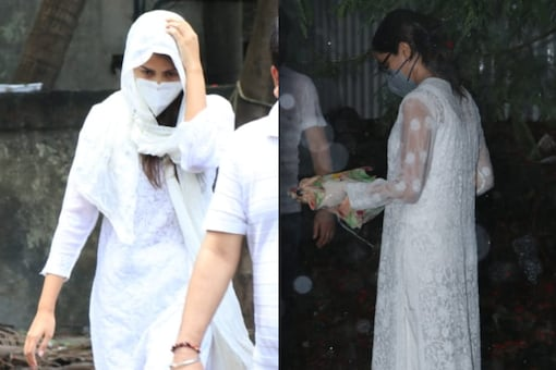 In Pics: Sushant Singh Rajput's Last Rites Performed In Mumbai, Bollywood Celebs Attend