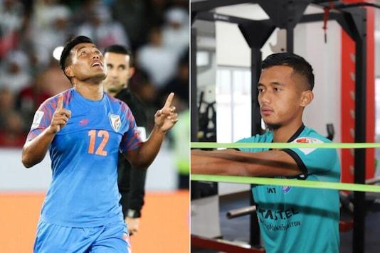 Jeje Lalpekhlua (L) and Isaac Vanmalsawma. (Photo Credit: AIFF Media/@JamshedpurFC)