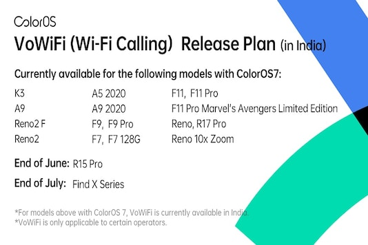 Oppo's new roadmap for VoWiFi calling feature. (Pic Source: ColorOS/Twitter)