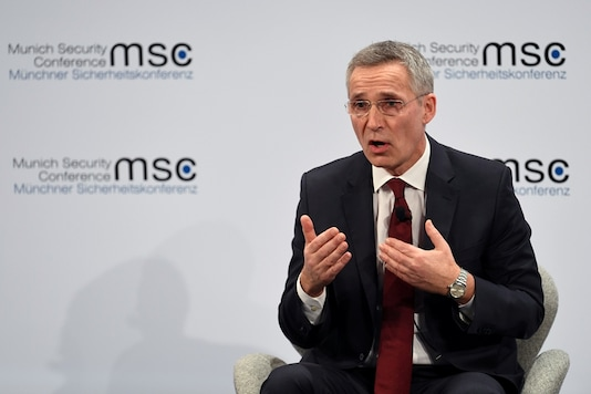 NATO Secretary GeneralJensStoltenberg speaks during a panel discussion at the annual Munich Security Conference in Germany February 15, 2020. (Image: REUTERS)