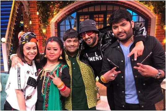 'The Kapil Sharma Show' artists with Ranveer Singh