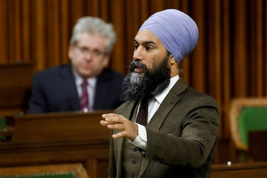 FILE PHOTO: Canada's New Democratic Party leader Jagmeet Singh speaks during a sitting of the House of Commons. (REUTERS/Blair Gable/File Photo)