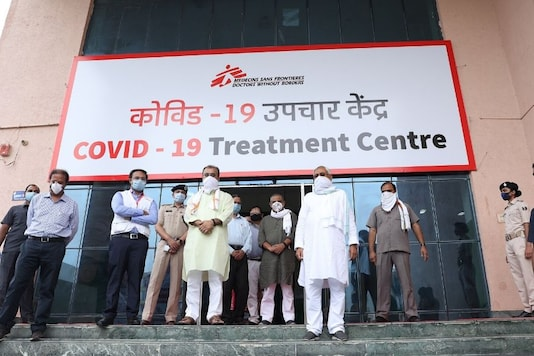 Bihar Chief Minister Nitish Kumar on Friday inaugurated a 100-bed temporary COVID-19 hospital in Patna. (Image: Twitter/@MSF_Ind)