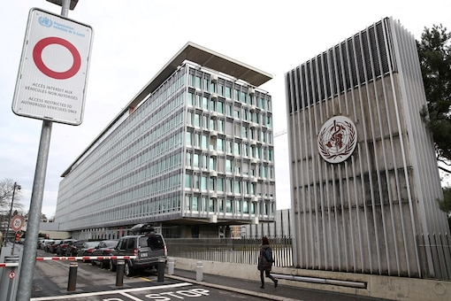 A logo is pictured on the headquarters of the World Health Orgnaisation (WHO). (Reuter)