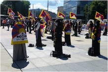 Anti China Protest in Geneva by Tibetan Community in Switzerland