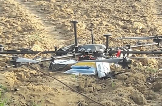 A Pakistani drone was shot down by the Border Security Force along the International Border in Kathua district.