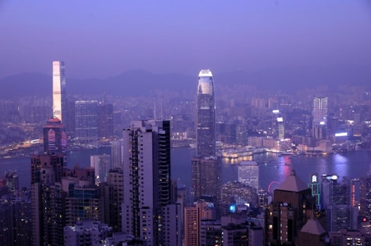 Hong Kong skyline is pictured from Victoria Peak in the city.  REUTERS/Navesh Chitrakar