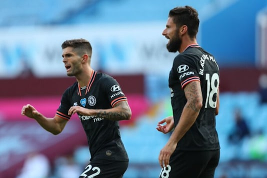 Christian Pulisic and Oliver Giroud (Photo Credit: Twitter)