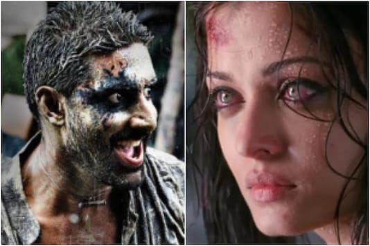 Abhishek Bachchan and Aishwarya Rai in 'Raavan'