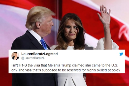 Melania Trump claims to have arrived  in the US on the H1B visa meant for highly skilled workers | Image credit: Reuters/Twitter