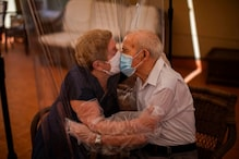 Kissing Through Plastic & Masks, This Elderly Couple's Reunion Post Lifting of Curbs Left Many Tearful