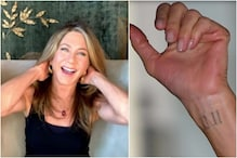 Jennifer Aniston Couldn't Hide Her Wrist Tattoo During Live Chat with Lisa Kudrow