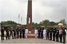 Coursemates Pay Homage to Martyr Col Santosh Babu at National War Memorial