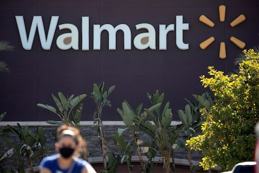 The logo of a Walmart Superstore is seen during the outbreak of the coronavirus disease (COVID-19), in Rosemead, California, US,  June 11, 2020. (Reuters/Mario Anzuoni)