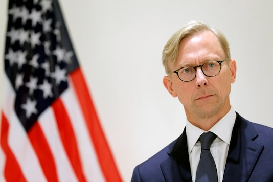 Brian Hook, US Special Representative for Iran, attends a news conference in London, Britain June 28, 2019. (REUTERS/Simon Dawson/File Photo)