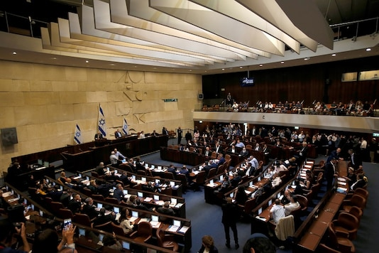 A general view shows the plenum at the Knesset, Israel's parliament, in Jerusalem May 29, 2019. REUTERS/Ronen Zvulun