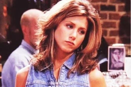 Jennifer Aniston as Rachel Green from Friends.