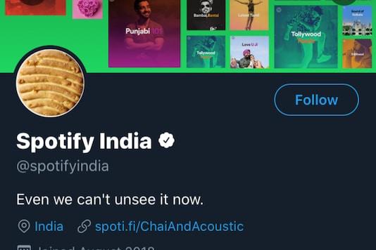 Screenshot of Spotify India's twitter handle.