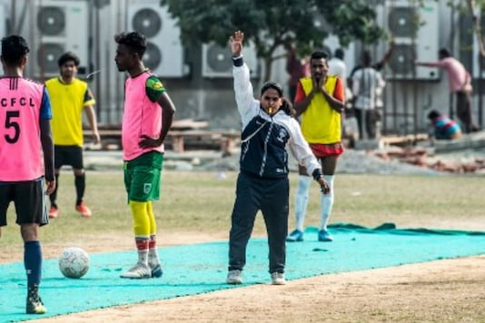 Mirona, Bangladesh's first female coach at club level. (Photo Credit: AFP)