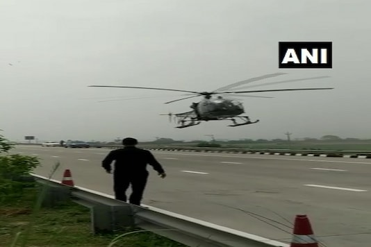 All four personnel on board French-origin Cheetah helicopter were safe and the helicopter later took off after repairs. (Credit: ANI Twitter)