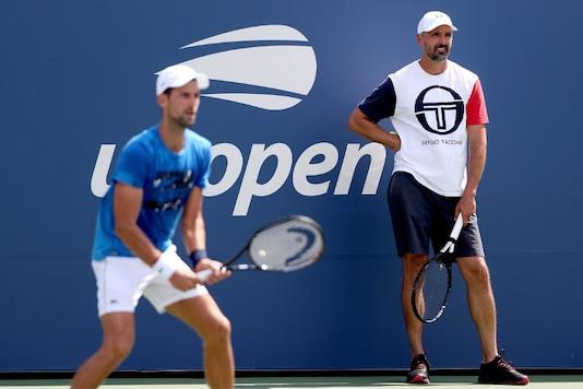 Novak Djokovic and Goran Ivanisevic (Photo Credit: Twitter)