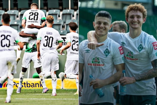 Borussia Monchengladbach and Werder Bremen (Photo Credit: Twitter)