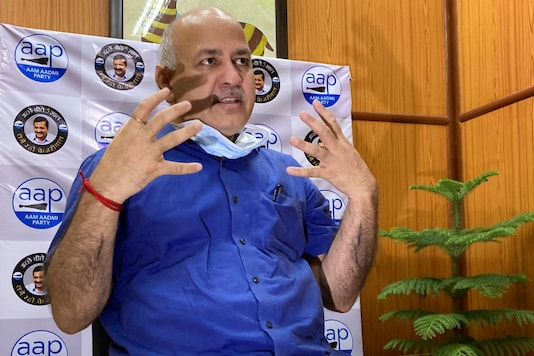 Delhi Deputy CM Manish Sisodia speaks during an interview with The Associated Press in New Delhi, India, Saturday, June 27, 2020. (AP Photo/Shonal Ganguly)