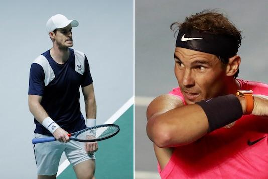 Rafael Nadal (R) and Andy Murray (Photo Credit: Reuters)