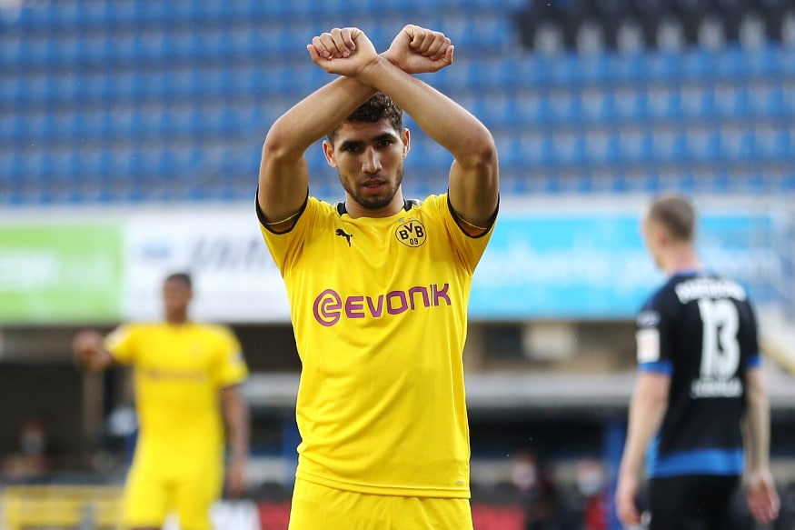 Borussia Dortmund S Loan Star Achraf Hakimi To Leave Club In Summer May Join Inter Milan
