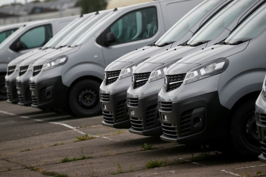 A row of newly built Vivaro vans is pictured in the distribution centre at the Vauxhall car plant in Ellesmere Port, Britain. (Image Source: Reuters)
