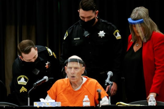 Former police officer Joseph James DeAngelo Jr. attends a hearing on crimes attributed to the Golden State Killer in Sacramento, California. (Reuters)