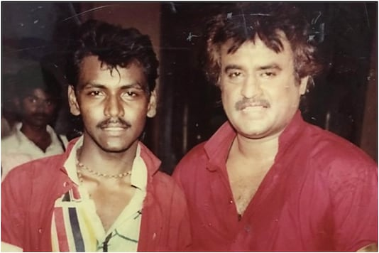 Raghava Lawrence with Rajinikanth